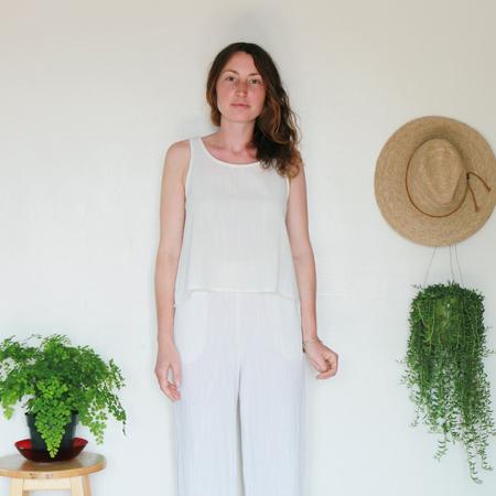 Me & Arrow Basic Short Tank - Ivory Cotton