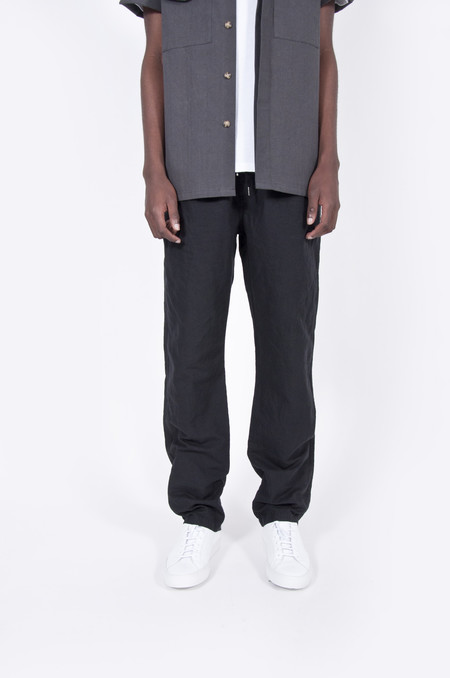 Our Legacy Relaxed Trouser Washed Black Linen