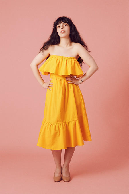 Samantha Pleet Paramour Dress - Lemon