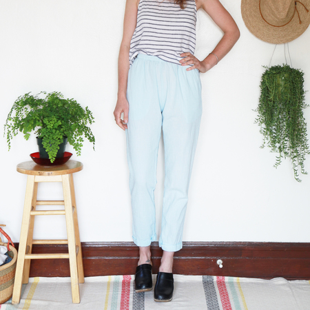 Me & Arrow Cuff Pants - Sky Cotton