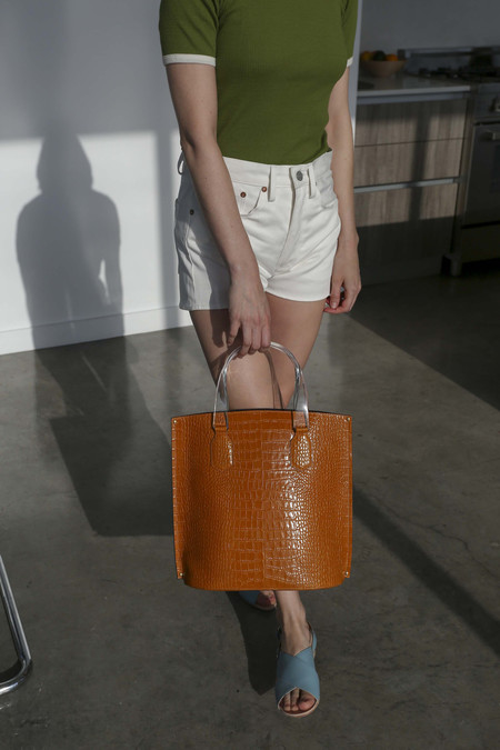 TRADEMARK Mini Aubock Shopper in Camel