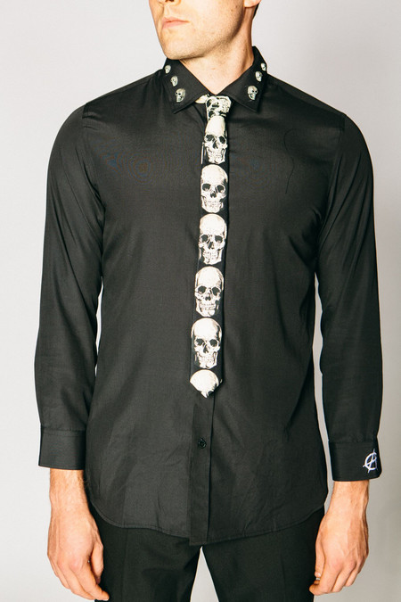 Any Old Iron Skull Tie