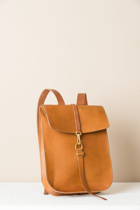 KikaNY Postal Backpack #1 In Dark Tan