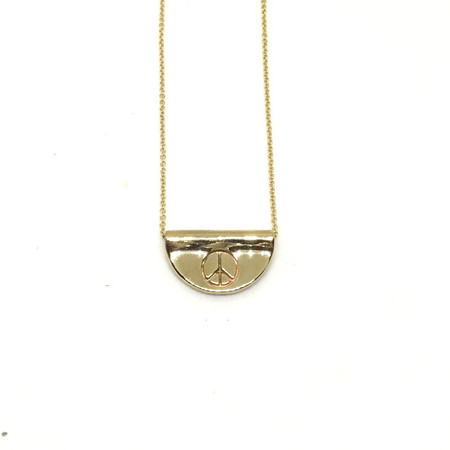 Balsam and Vine Peace Man Necklace Brass