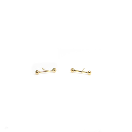 Wolf Circus Matchstick Gold Earrings