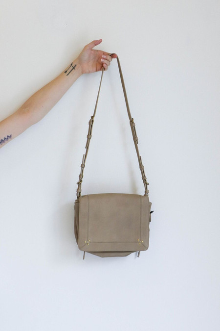 Jerome Dreyfuss Igor Crossbody Bag in Gris Lambskin