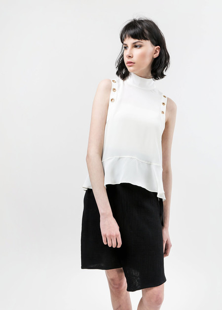 Arcana NYC Eyre Lace-Up Blouse