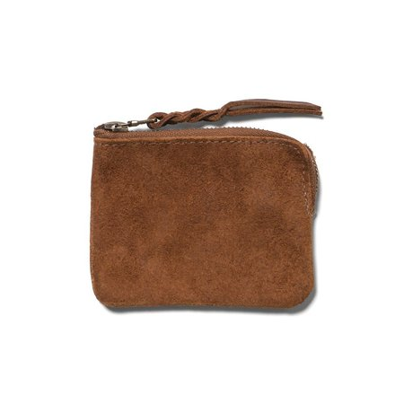 MAPLE Half Zip Wallet Tan