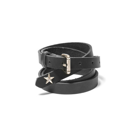 Maple Long Belt (Star Concho) - Black