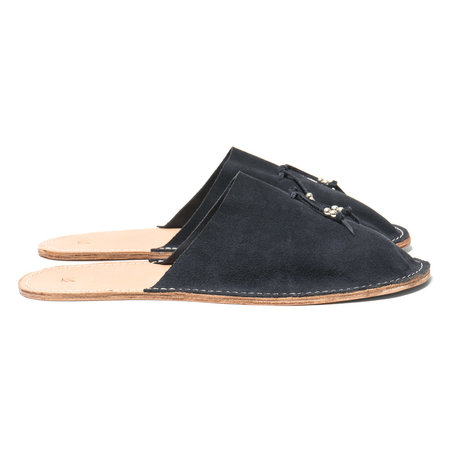 Maple Home Slippers (Suede) - Navy