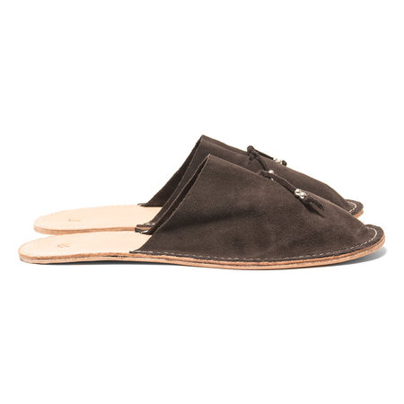 Maple Home Slippers (Suede) - Brown