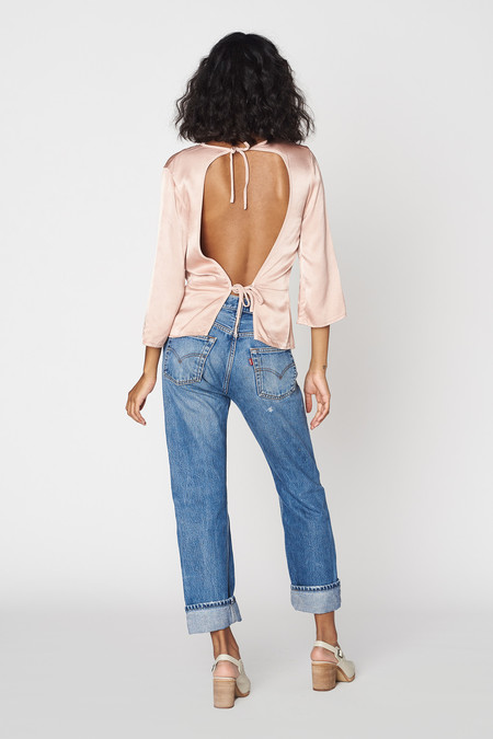 Lacausa Clothing Tie Back Top