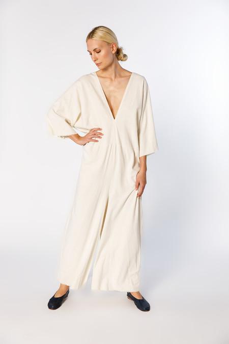 Miranda Bennett  Muse Jumpsuit, Silk Noil in Natural