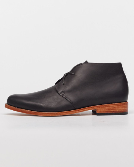Nisolo Luca Chukka Boot Noir 5 for 5
