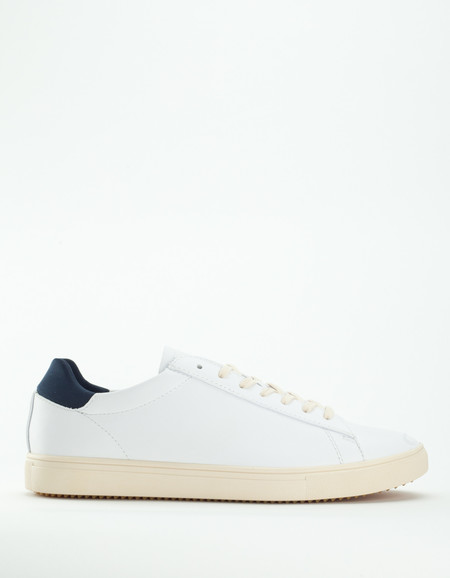 Clae Bradley Leather White