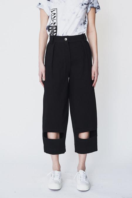 Nancy Stella Soto Cotton Cutout Denim Trousers