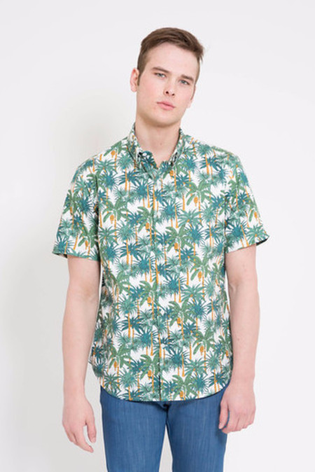 18 Waits White Palms Short Sleeve Dylan Shirt