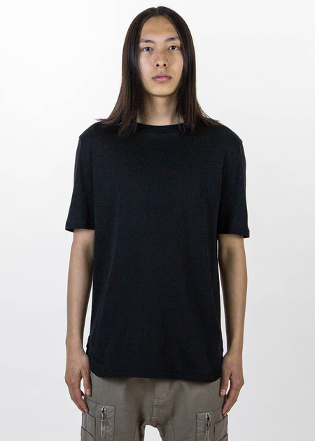 Helmut Lang Black SS Tee Brushed Jersey
