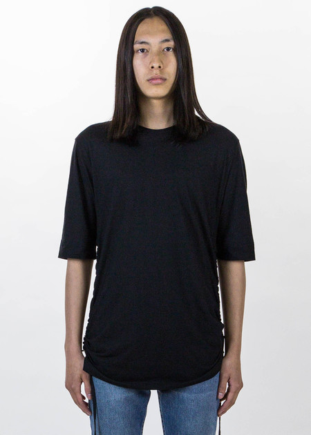 Helmut Lang Black Drawcord T-Shirt