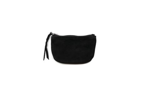 MAPLE ZIP POUCH (SUEDE) - BLACK