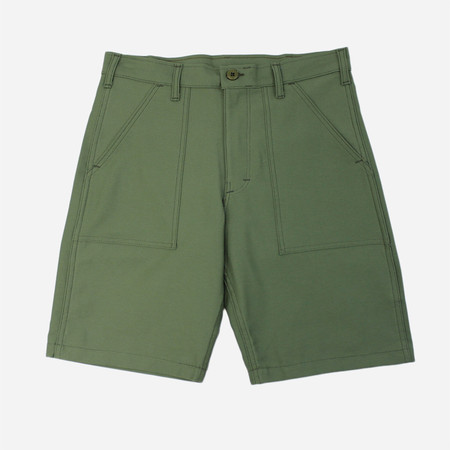Stan Ray 4-Pocket Fatigue Shorts - Olive Sateen