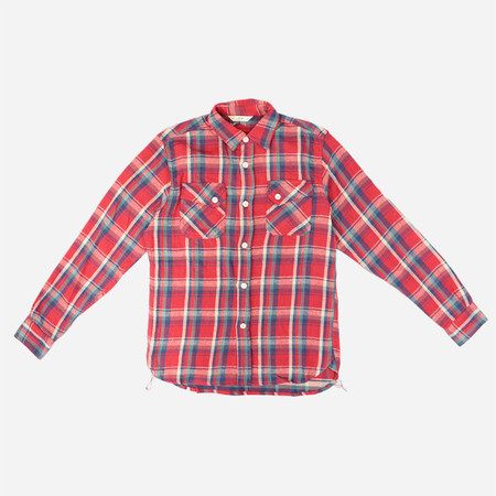 3Sixteen Crosscut Flannel Shirt - Red/Blue Check