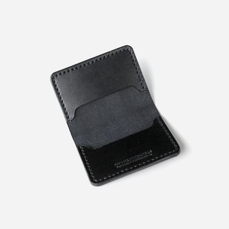 DW Leatherworks Folded Card Wallet (3 slots) - Black