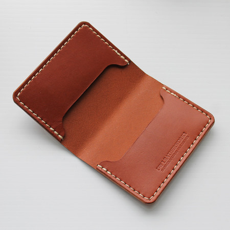 DW Leatherworks Folded Card Wallet (3 slots) - Chestnut