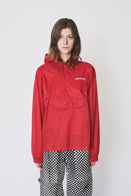Unisex Assembly New York Nylon Logo Anorak - Red