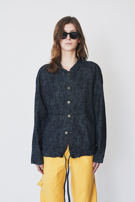 Unisex ZED Silk/Cotton Cropped Catchall Jacket