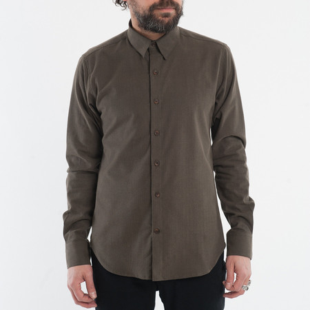 18 Waits The Dylan Shirt - Olive Herringbone Flannel