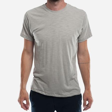 18 Waits The Signature T-Shirt - Grey Melange Slub Jersey