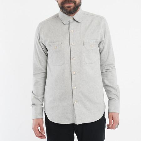 18 Waits The Woodsman Pocket Shirt - Cream Melange Flannel