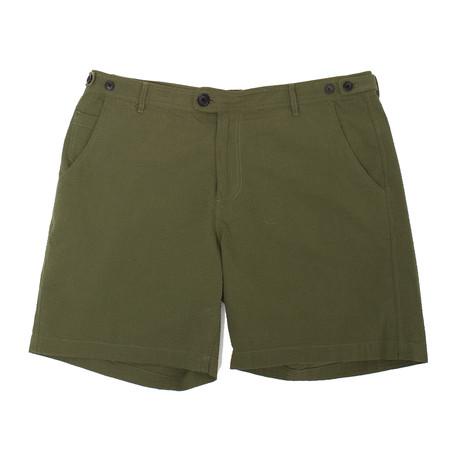 Corridor Seersucker Shorts - Olive