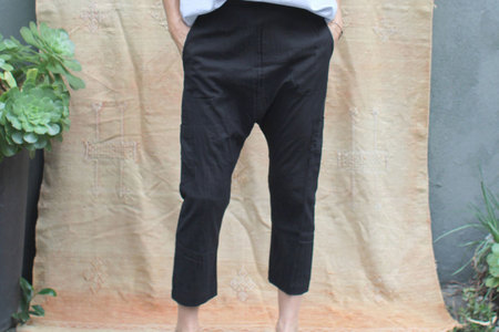 pietsie Fez Trouser in Black Cotton Voile