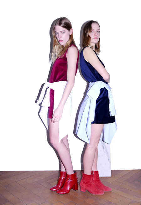 KIMEM Velvet Mini Dress
