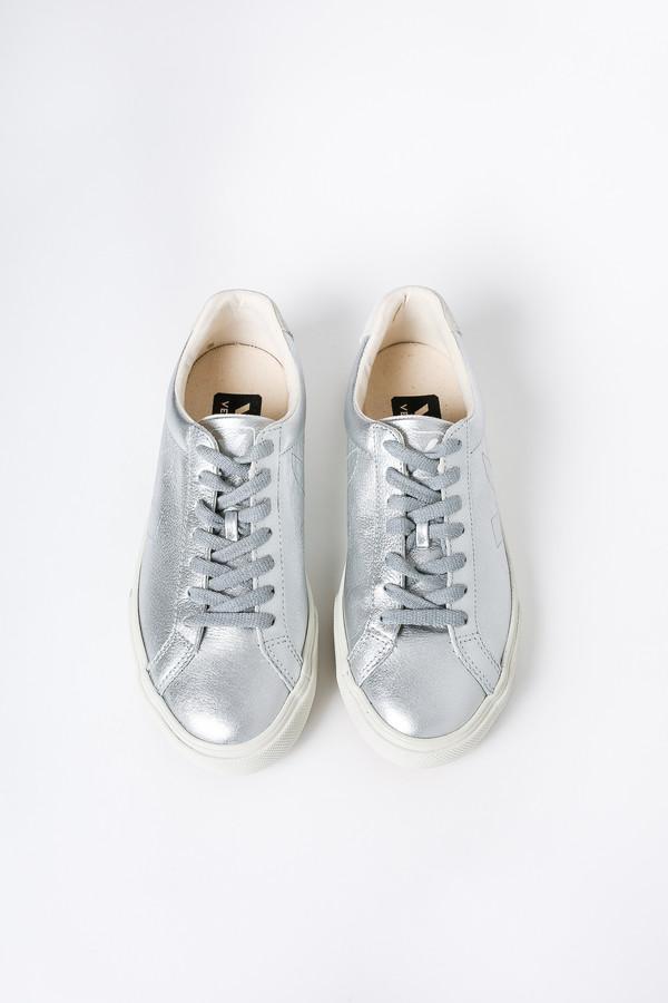 VEJA Esplar Low Top Sneaker In Silver Pierre