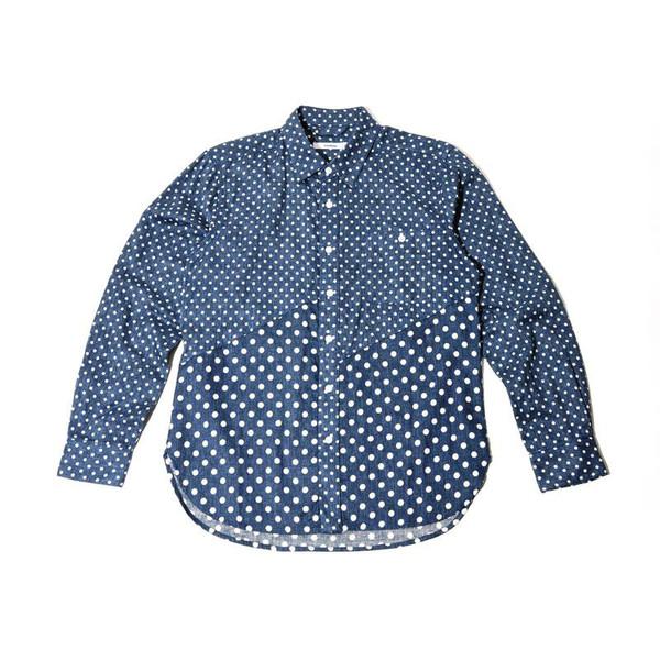Unisex Spliced Polka Dot Shirt