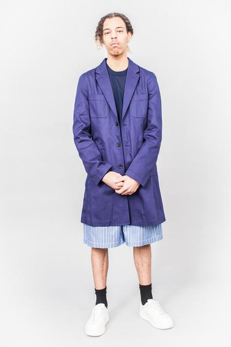 Comme Des Garçons SHIRT boys Logo Coat Blue