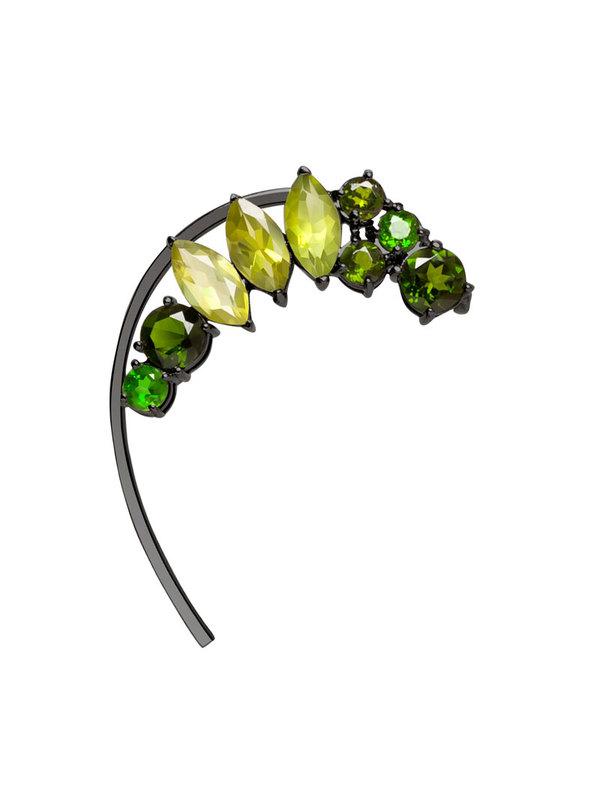 Diaboli Kill Isadora Green Gemstone Ear Cuff