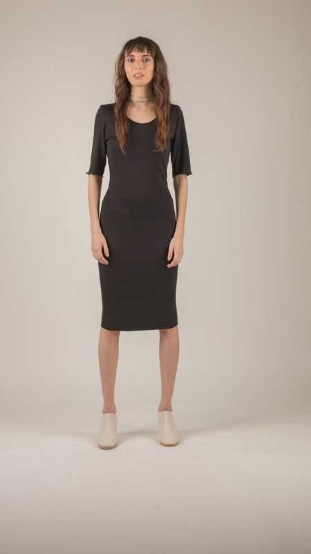 Raquel Allegra - Black Fitted Dress