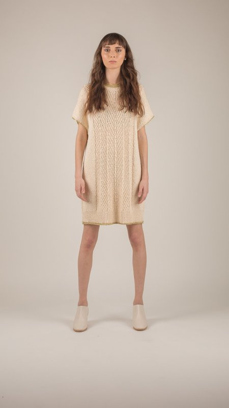 Raquel Allegra - Ivory Cable Tunic