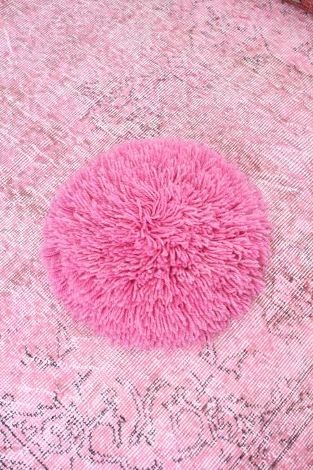 Artist Alpaca Handmade Fringe Pillow Rose