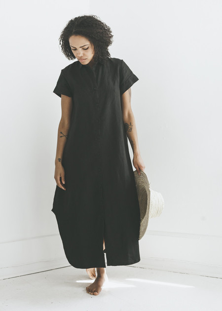 Zii Ropa Mandu Linen Dress in Black