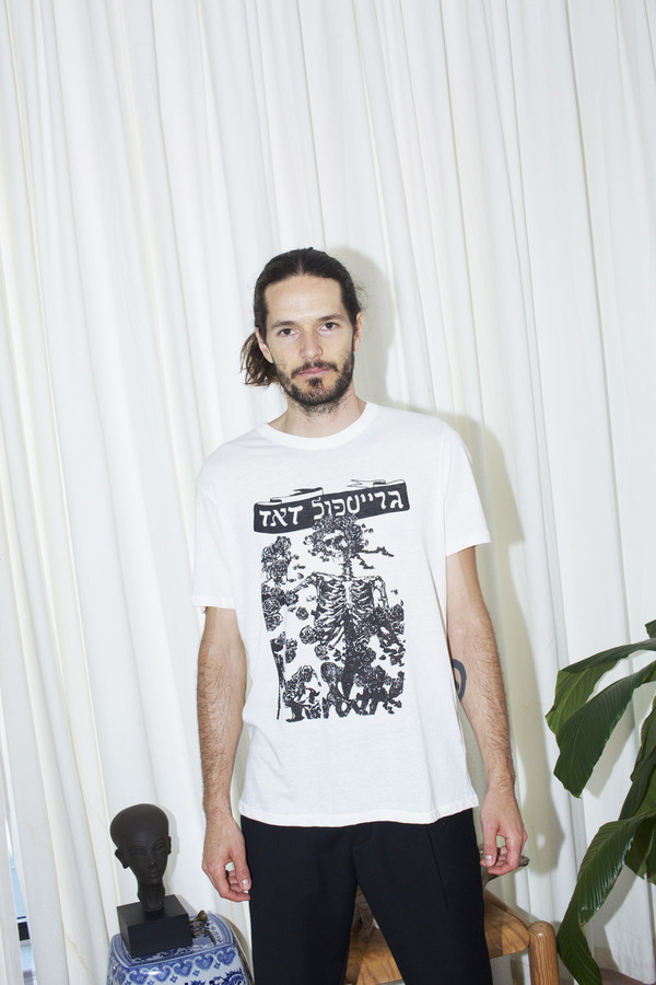Unisex Assembly New York Cotton Dead T-Shirt - White