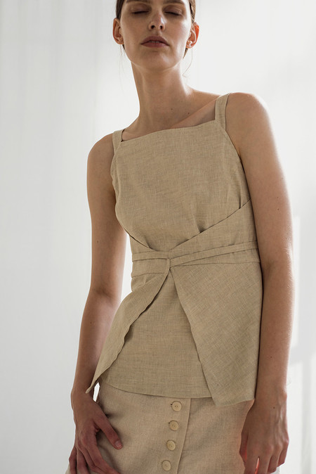 Shaina Mote Kelso Top   Flax