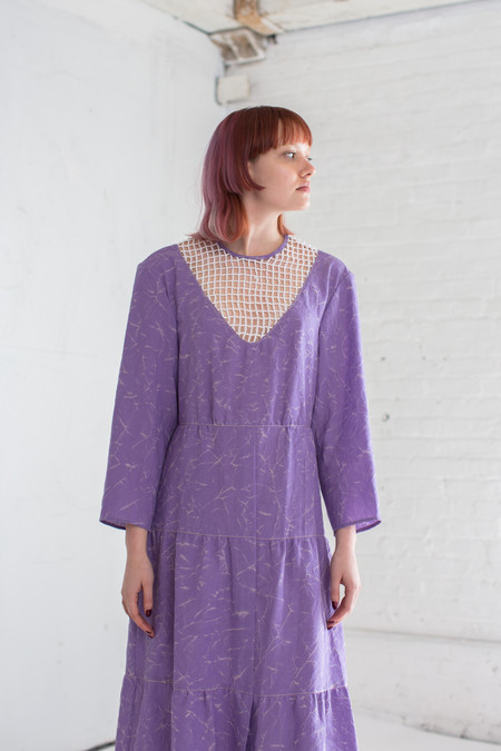 Veronique Leroy Dress with Net Modesty in Lilac