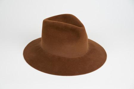 Clyde Pinch Hat in Brandy Angora