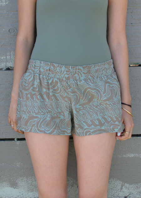 Gravel & Gold Short Shorts - Drake / Mineral Green