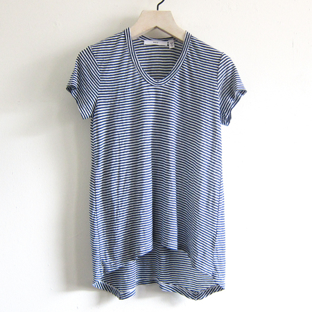 Wilt striped tee - navy/white
